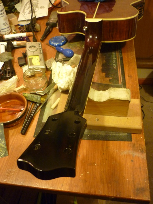 acoustic guitar headstock break repair