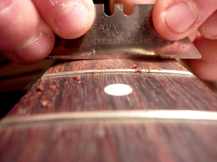 Cleaning the fingerboard
