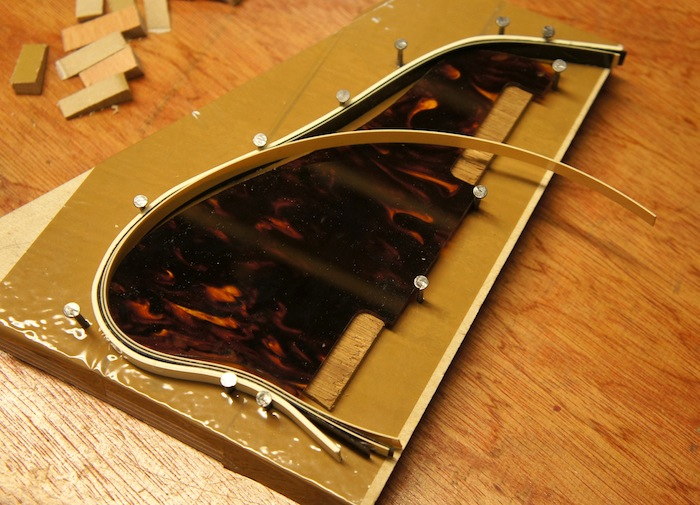 pickguard binding layers