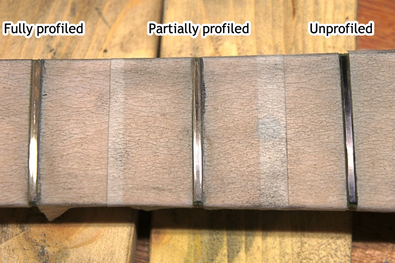 Partially crowned fret tops