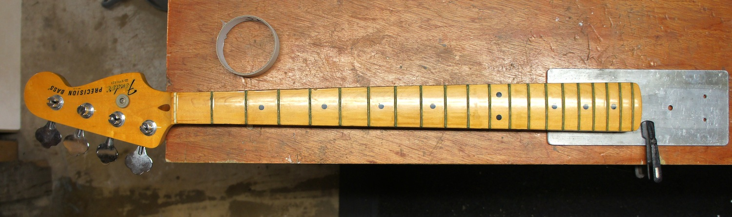 Bass neck removed