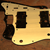 Brushed brass guitar pickguard