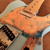 copper oxidised guitar pickguard