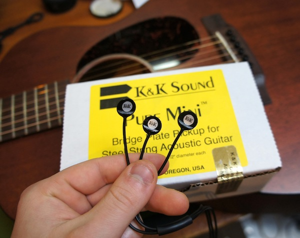 Acoustic Guitar pickup installtion - K&K Pure mini pictured